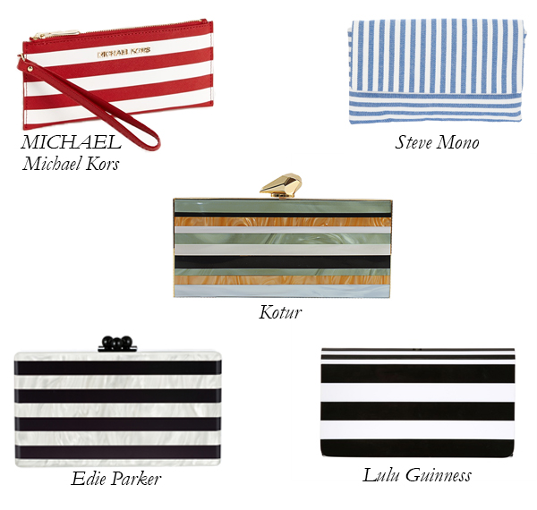 Top 5 Striped Clutches