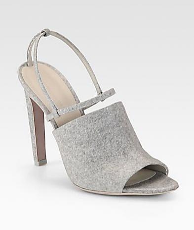 Alexander Wang Maryna Sweatshirt Lam Flannel Sandals
