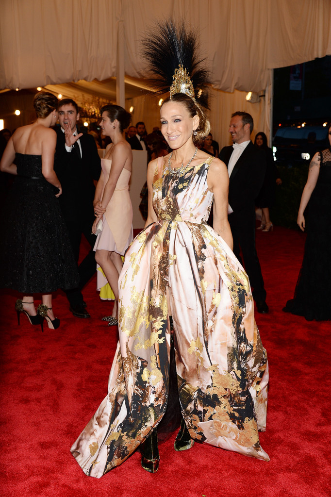 Sarah Jessica Parker in GIles Deacon at the Met Gala