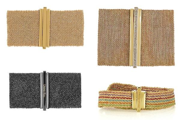 Carolina Bucci Woven Gold Cuffs