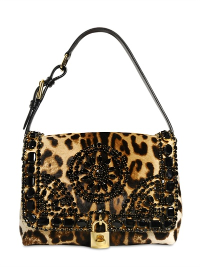 Dolce & Gabbana Leopard Printed Ponyhair