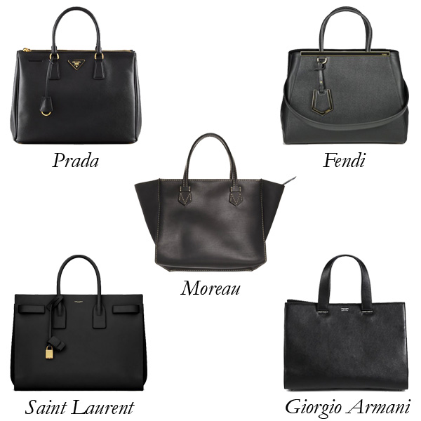 The Structured Black Tote
