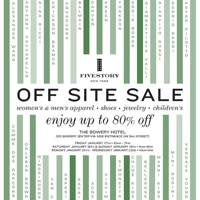 Fivestory Off Site Sale