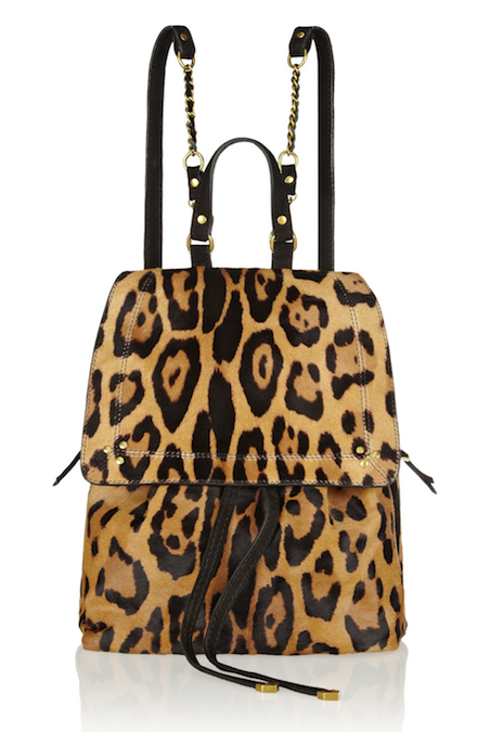 Jérôme Dreyfuss Florent Leopard-Print Calf-Hair Backpack