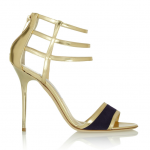 Jimmy Choo Tolka Metallic Leather Sandal