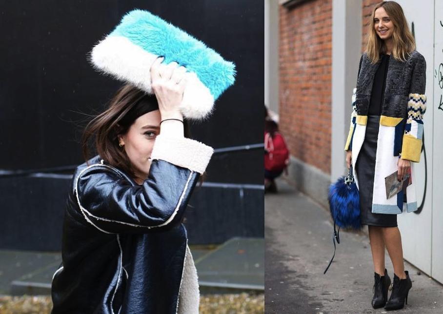 Fur Bag Street Style