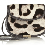 Tamara Mellon Treasure Leopard-Print Calf-Hair Shoulder Bag