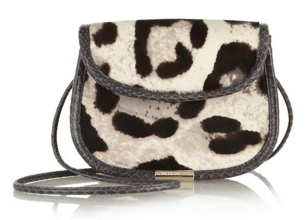 Tamara Mellon Treasure Leopard-Print Calf-Hair Shoulder Bag