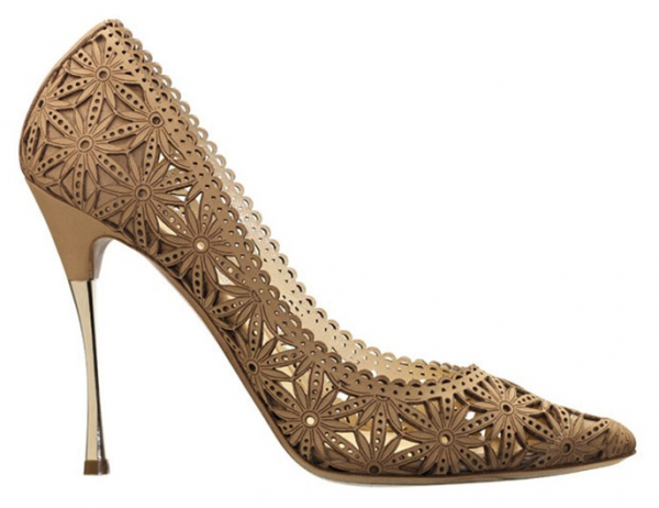 Nicholas Kirkwood Laser-Cut Leather Pumps