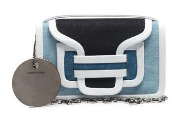Pierre Hardy Denim and Leather Shoulder Bag