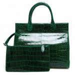 Azzedine Alaïa Patent Crocodile Structured Tote Bag
