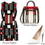 Alexander McQueen Heroine Mini Watersnake, Calf-Hair and Leather Tote