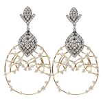 Bochic Diamond Openwork Earrings