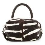 BOYY Martin Zebra-Print Satchel Bag