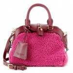 Burberry Prorsum Small Milverton Shearling and Leather Tote