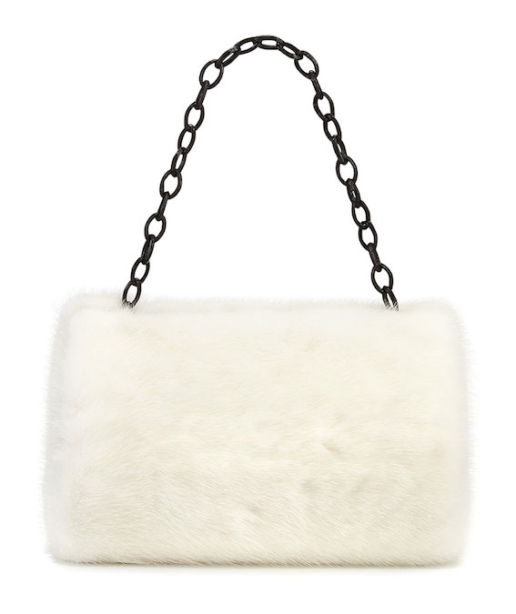Nancy Gonzalez Small Framed Mink Fur Clutch Bag