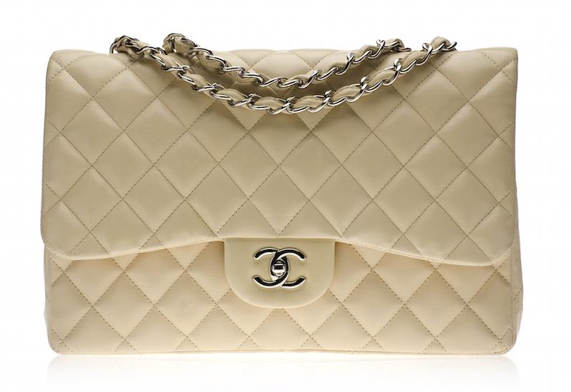 Chanel Beige Flap Bag