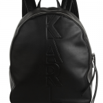 Karl Lagerfeld Appliqué Leather Backpack