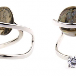 Fendi Mother-of-Pearl and Crystal Ring