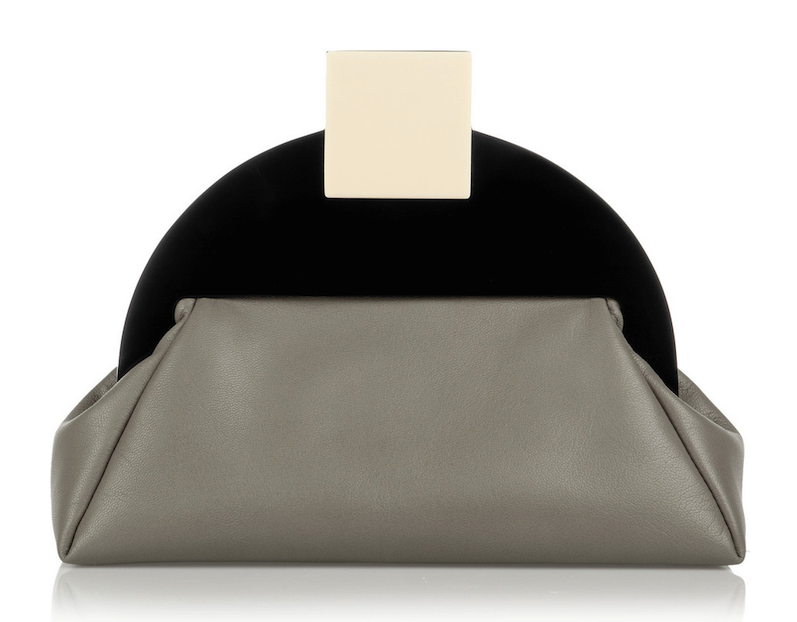 Finds + MATTER MATTERS Deco Leather and Acrylic Clutch