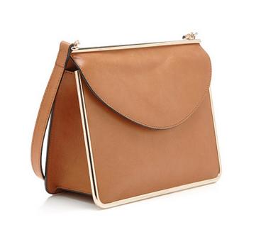 Carven Metal Framed Leather Shoulder Bag