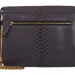 Zagliani Python Liberty Shoulder Bag