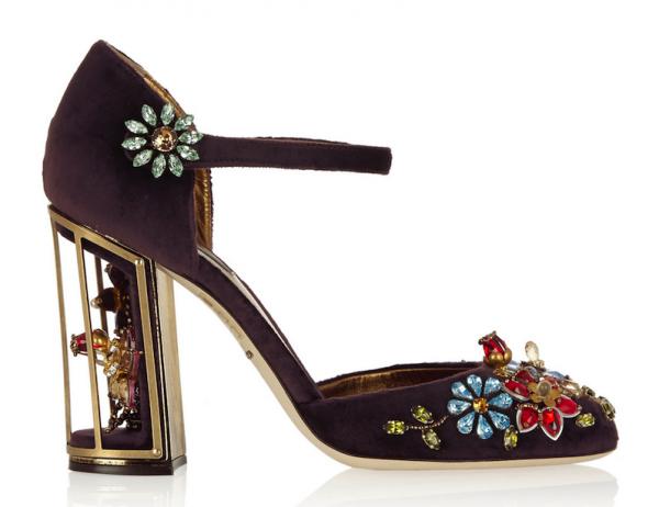 Dolce & Gabbana Crystal-Embellished Velvet Pumps