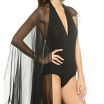 Donna Karan New York Winged Jersey Bodysuit