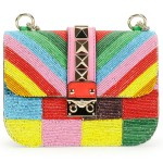 Valentino 1973 Beaded Small Lock Shoulder Bag