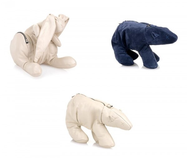 Christopher Raeburn Hare and Polar Bear Shoulder Bags