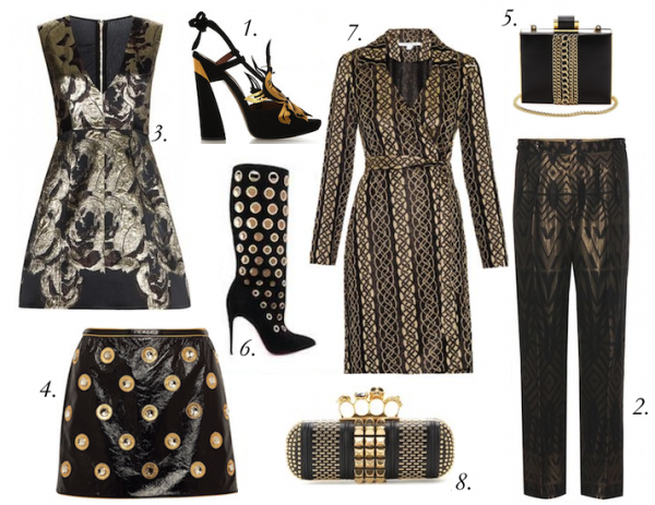 Top Black and Gold Pieces