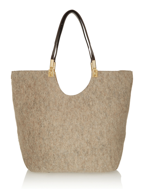 Elizabeth and James Cynnie Wool and Leather Tote