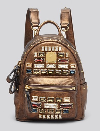 MCM Stark Edelin Baby Jeweled Backpack