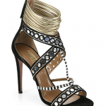 Aquazzura Queen Mixed Media Sandals