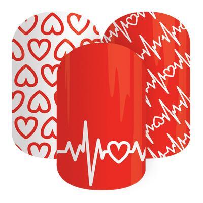 Jamberry Nails Heart Health Awareness Nail Wraps