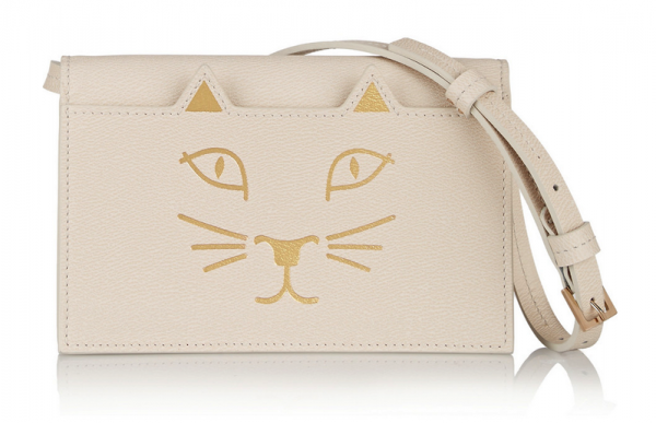 Charlotte Olympia Feline Leather Shoulder Bag