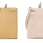 Fendi Peekaboo Leather and Sheep Fur Pouchettes