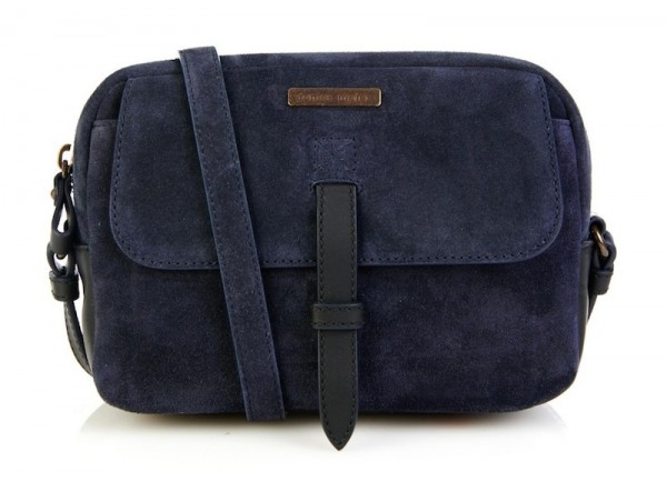 Tomas Maier Bicolor Suede Shoulder Bag