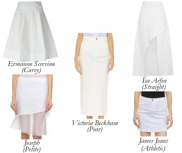 White Summer Skirts for Every Figure