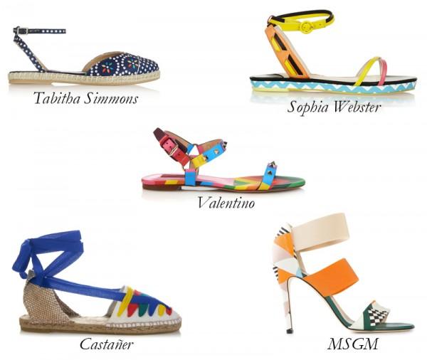 Top 5 Vivid Sandals