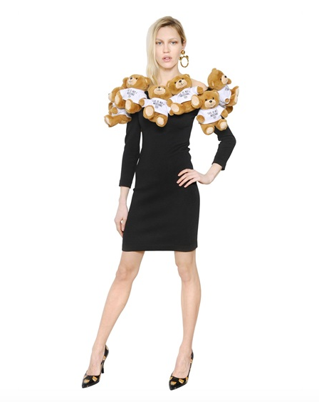 Moschino Toys Embellished Heavy Wool Knit Dress