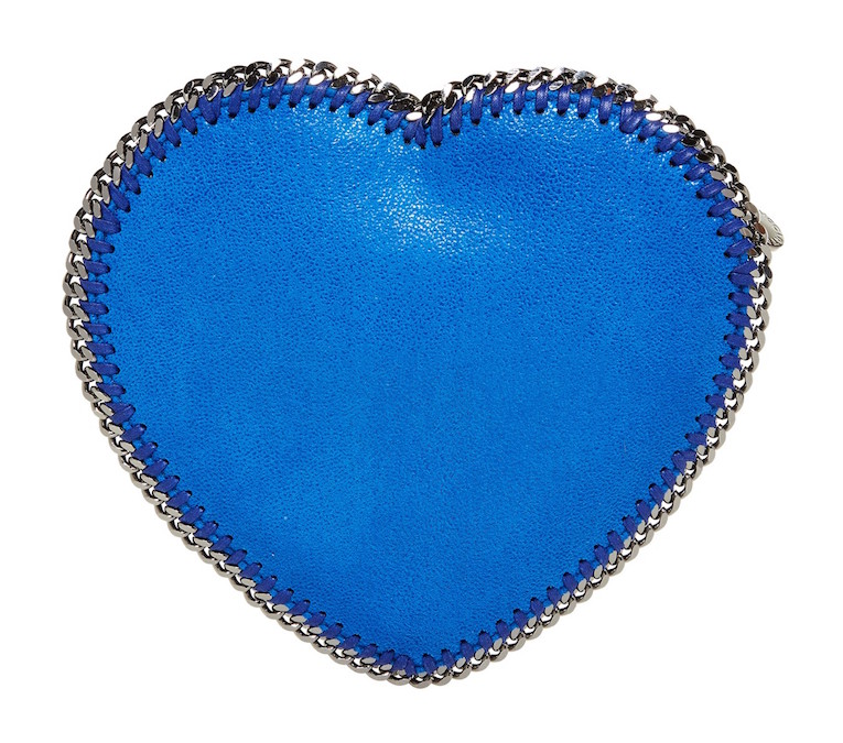 Stella McCartney Heart Falabella Faux-Suede Crossbody Bag