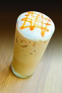 Iced caramel coffee