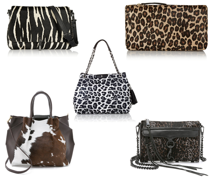 elizabethjames_shoulder_tamaramellon_clutch_oliveve_tote_rebeccaminkoff_crossbody_snobessentials_drew_tote_animal_print_bag