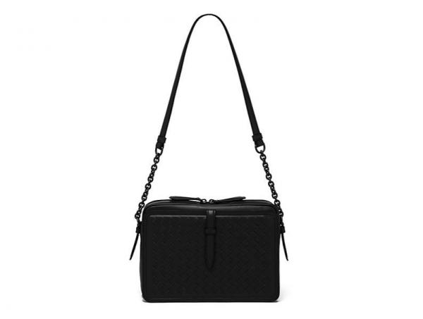 Bottega Veneta Intrecciato Leather Box Shoulder Bag