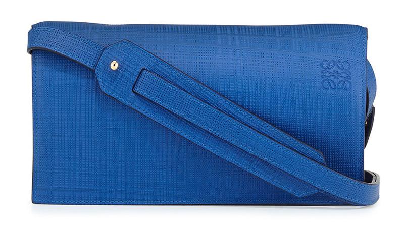 Loewe Calfskin Clutch Bag with Shoulder Strap