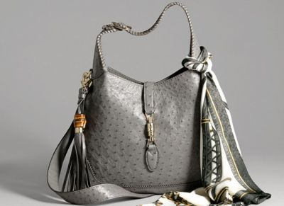 Gucci Limited Edition New Jackie Ostrich Bag