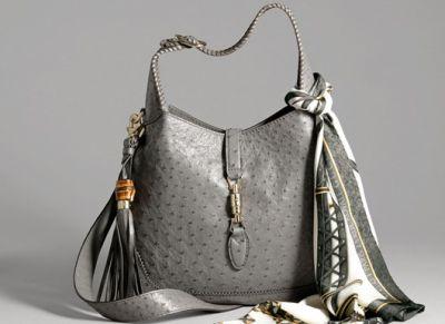 gucci limited edition new jackie ostrich bag snob essentials. Black Bedroom Furniture Sets. Home Design Ideas