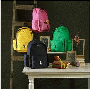 8ec092a81017b Ralph Lauren Big Pony Personalized Backpacks  Ride  Em Schoolboy (or Girl)!