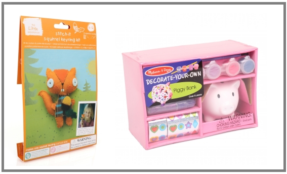 The little experience stitch it squirrel key ring kit and for Create your own piggy bank